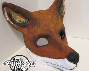 Realistic Fox costume mask, Animal mask, wildlife cosplay, masquerade mask, animal totem, mask, red fox, Ethiopian wolf