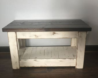primitive wood bench tv stand front porch bench distressed bench farmhouse bench