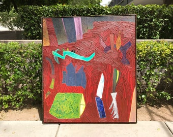 Tom Savage Abstract Painting, California Artist