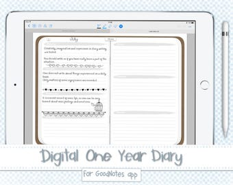 Digital One Year Diary For GoodNotes app PDF File
