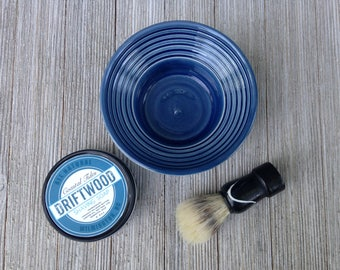 Shaving Men's Shaving Kit - Shave Soap - Shave Brush - Shaving Brush - Bowl -Deep Sea Blue