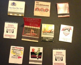 Match Book Collection Set Vintage