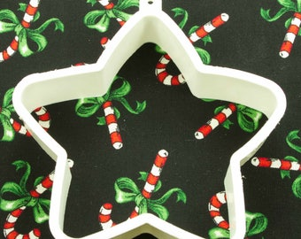 1980's Hallmark White Star Shaper Christmas/4th Of July Plastic Cookie Cutter