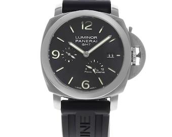Panerai Black Luminor 1950 Pam00321 Stainless Steel & Rubber Men's Watch