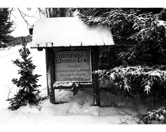 Christmas on Indian Lore  Black and White photo