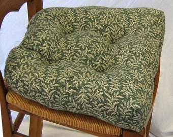 WAVERLY Fabric CHAIRPADS. Fern Fern .Set Of 4