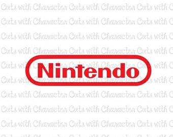 ON SALE Nintendo logo SVG Dxf and Png Files for Cutting Machines Silhouette, Cricut or Scan 'N' Cut