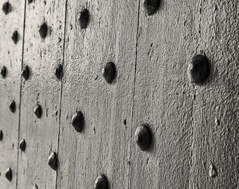 Bolts in a Door Fine Art Print