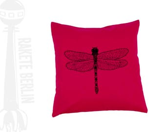 cushion cover cotton 'Dragon-fly drawing'