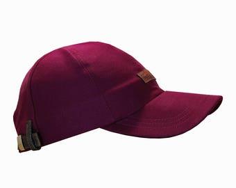 Organic Cotton Burgundy Baseball Cap