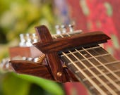 CheChen ~ Wooden Guitar Capo ~ Adjustable Tension ~ WoodenK ~ (Acoustic, Electric, Classical, Banjo & Ukulele) Guitar Player Gift