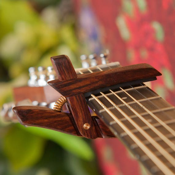 CheChen  Wooden Guitar Capo  Adjustable Tension  WoodenK