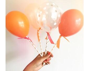 Orange Balloon Pops