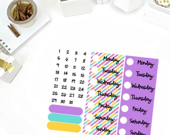 Sweet Tooth Date Cover Up Stickers! Perfect for your Erin Condren Life Planner, calendar, Paper Plum, Filofax!