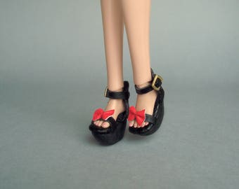 Poppy Parker, Barbie Made To Move, shoes Wedges, Red Bow