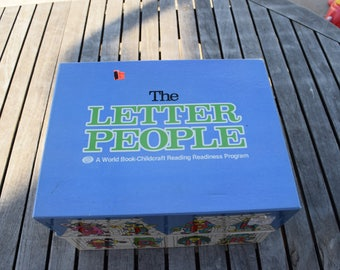 Vintage 1981 The Letter People A World Book-Childcraft Reading Readiness Program Box Set Homeschool Educational Elementary Workbooks Records