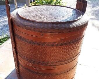 Oriental wicker basket