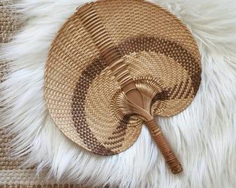 Vintage African Rattan Fan
