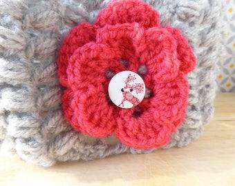 Earmuffs headband crochet - girls - for cold winters.