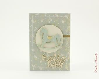 Baby card, birthday card, baby greeting cards, handmade greeting card, baby handmade card, hello baby