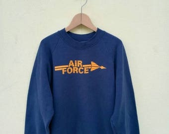 On Sale 20% Off Vintage Air Force Sweatshirt/Air Force Sweater/USAF Pullover