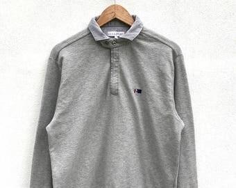 """20% OFF Vintage Elle Sport Paris Sweatshirt / Elle Sport Sweater / Elle Spell Out Shirt / Elle Big Logo / Streetwear / Armpit 23"""""""