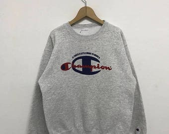 20% OFF Vintage Champion Big Logo Sweatshirt/Champion Sweater/Champion C Logo/Champion Clothing/Champion Spellout