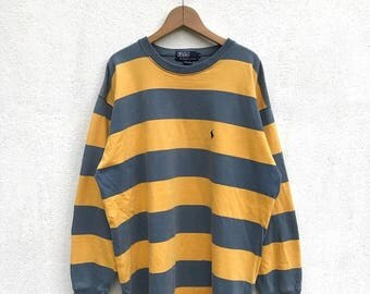 20% OFF Vintage Polo Ralph Lauren Small Pony Stripe Pullover/Ralph Lauren Sweater/Polo Sport