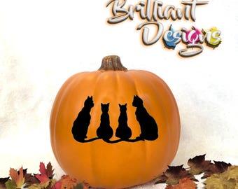 Pumpkin decal,Cat sticker,Halloween Decal,Harvest decor,Halloween sticker,pumpkin sticker,jack o lantern decal,Harvest pumpkin,porch decor