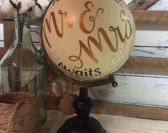 Mr and Mrs Adventure Awaits | World Globe | Wedding Decor | Wedding Gift | Home Decor | World Globe