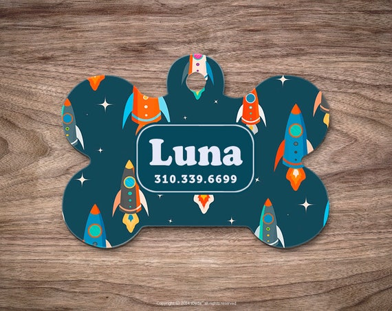 Pet id Tag Dog Tags for Dogs Rockets Dog Tag Personalized Cat Tags Pet Gift Custom Dog Tag Pet Tags Dog Tags Personalized