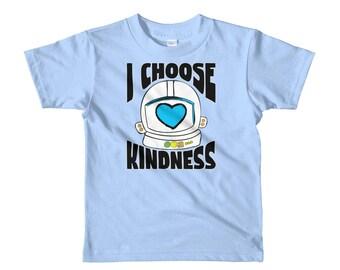Kids - I Choose Kindness Shirt - Choose Kind Helmet Shirt Short sleeve kids t-shirt Toddler Shirt Kid tshirt Boys Girls Shirt Toddler