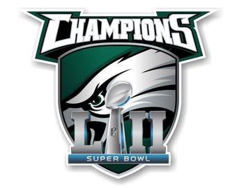 Philadelphia Eagles Super Bowl 52 Champions 3.1/2x4.1/2 Fridge Magnet