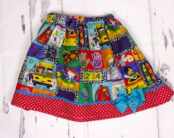 Girl skirt  Girl School shirt,  girl skirt, baby skirt, toddler skirt back to school girl clothes