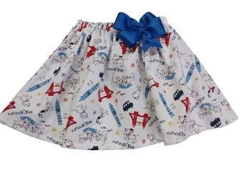 Girl Skirt Girl birthday skirt Girl Dalmatians skirt Girl Skirt Girl summer skirt Girl birthday skit, baby Skirt , Toddle skirt, Skirts