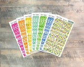 """Fruit Salad - Clear Stickers - 7 Sheets of Translucent Stickers, Inspired by """"Fruit of the Spirit"""" - Perfect for the margins of your bible"""