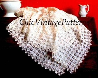 Crochet Tablecloth ... PDF Crochet Pattern ... Motif Tablecloth Pattern ... Home Decor, Dining, Kitchen ... Vintage Crochet