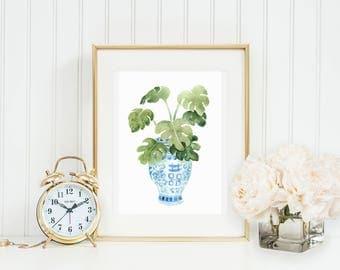 Palm Ginger Jar Art Print