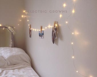 Dorm Decor Bedroom Decor Tumblr Decor Fairy Lights Teen - String lights for girls bedroom