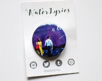 La La Land watercolor /// BUTTON