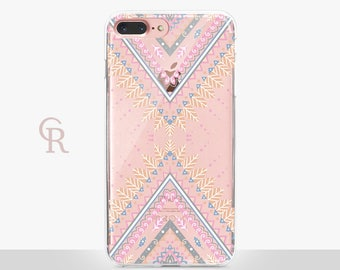 Tribal Phone Case - Clear Case - For iPhone 8 - iPhone X - iPhone 7 Plus - iPhone 6 - iPhone 6S - iPhone SE Transparent - Samsung S8 Plus