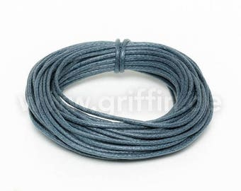 SALE 15% OFF 5m of waxed cotton, 1mm, dark grey, cotton tape, jewelry band, Griffin, cotton, waxed, cord, cord, jewelry cord, jewelry lanyar