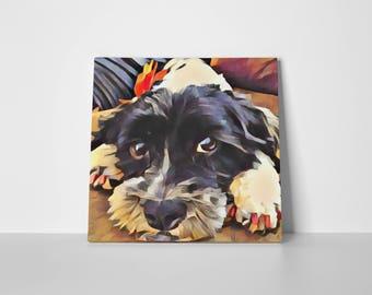 20x20 Custom Pet Canvas, Print Your Pet, Pet Pop Art, Pet Art, Canvas Art