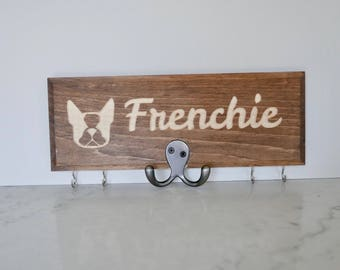 French Bulldog Leash and Key Holder