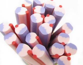 1 x pastel cupcake polymer clay Cane