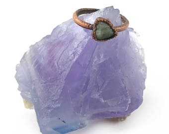 Raw Emerald Ring, Rough emerald ring, Emerald birthstone ring, Raw stone jewelry, Raw emerald jewelry, May birthstone, Electroformed Copper