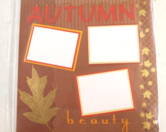 AUTUMN BEAUTY  12 x 12 pre-assembled scrapbook page