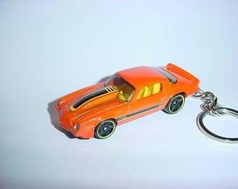 3D Chevrolet Camaro Z-28 custom keychain by Brian Thornton keyring key chain finished in orange