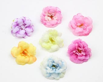 30pcs Silk camellia head 40mm Artificial camellia flower camellia corsage for wedding flower diy SF006