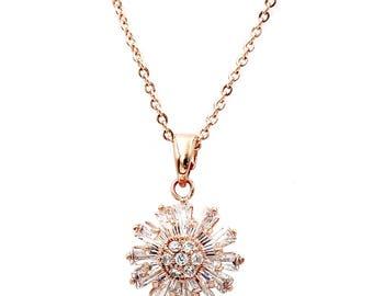 Brilliant little sun crystal necklace